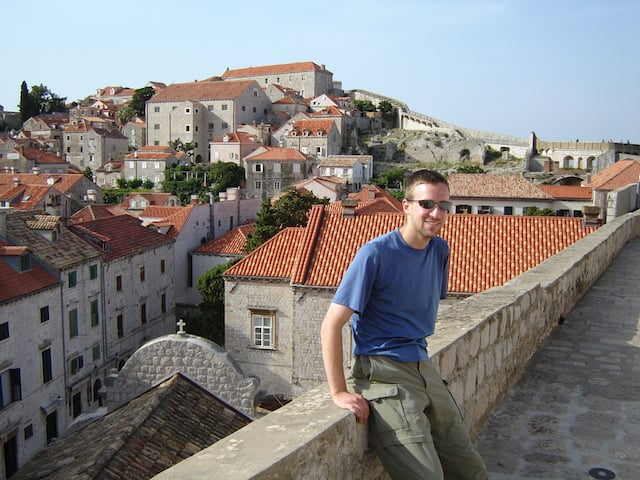 Along the walls of Dubrovnik.