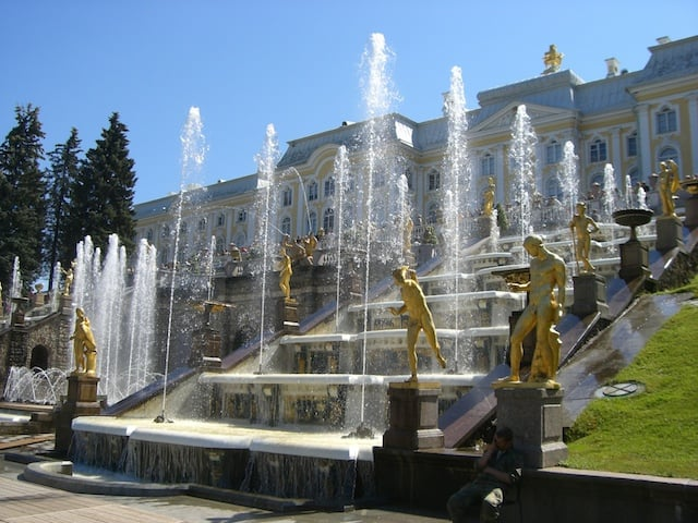 Peter the Great's summer palace, where no construction workers ever got to enjoy their vacation.