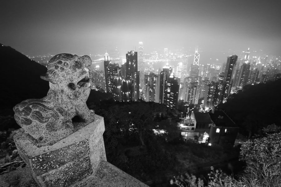 High contrast Hong Kong