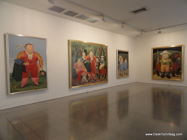 The works of Fernando Botero at the Museo de Antioquia.