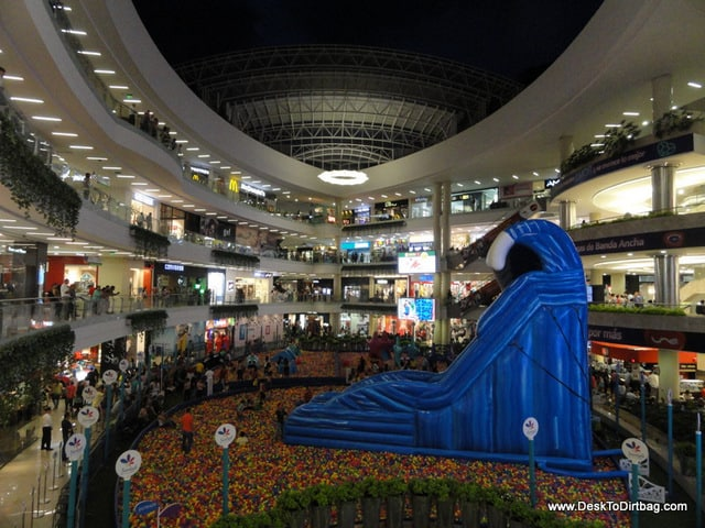 Santa Fe Mall with its retractable roof and massive ball pit courtyard for kids.