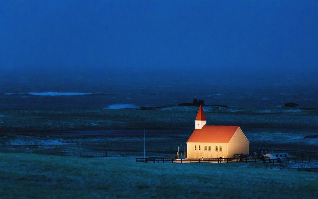 Iceland blue hour