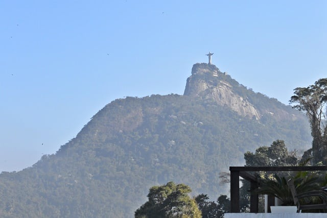 A view of Christ the Redeemer from Santa Teresa