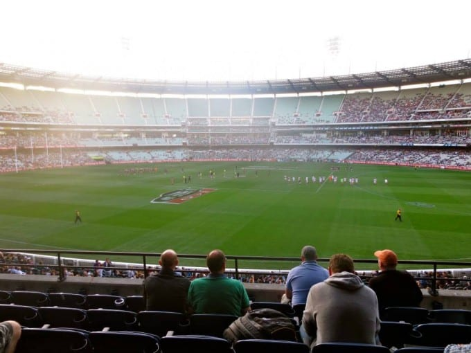 Footy game in Melbourne, Australia