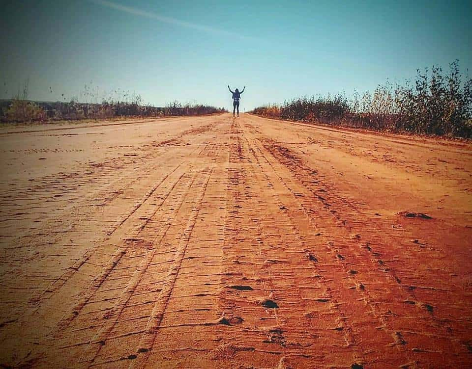 I love those red dirt roads!
