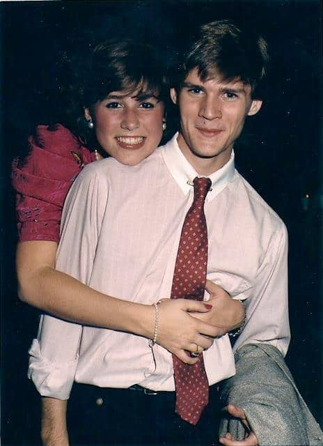 mike hodson high school photo with elisabeth enloe