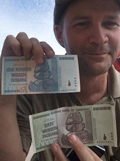 Zimbabwe Money, Trillion Dollar Zimbabwe bills