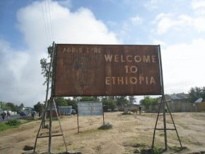 kenya ethiopia border crossing sign