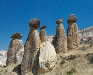 balanced stones cappadocia turkey