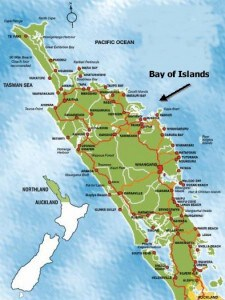map of bay of islands, northland new zealand