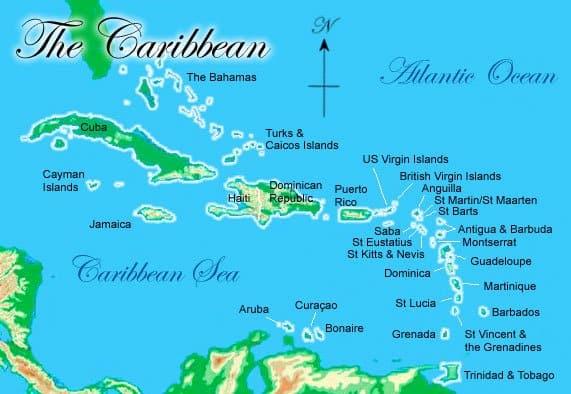 map of grenada, map of caribbean