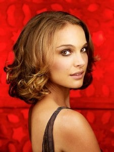 Natalie Portman with red background