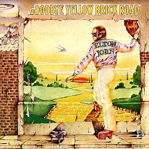 elton john's goodbye yellow brick road album cover