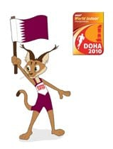 qatar host of asian indoor games, saham the mascot for the asian indoor games in doha qatar