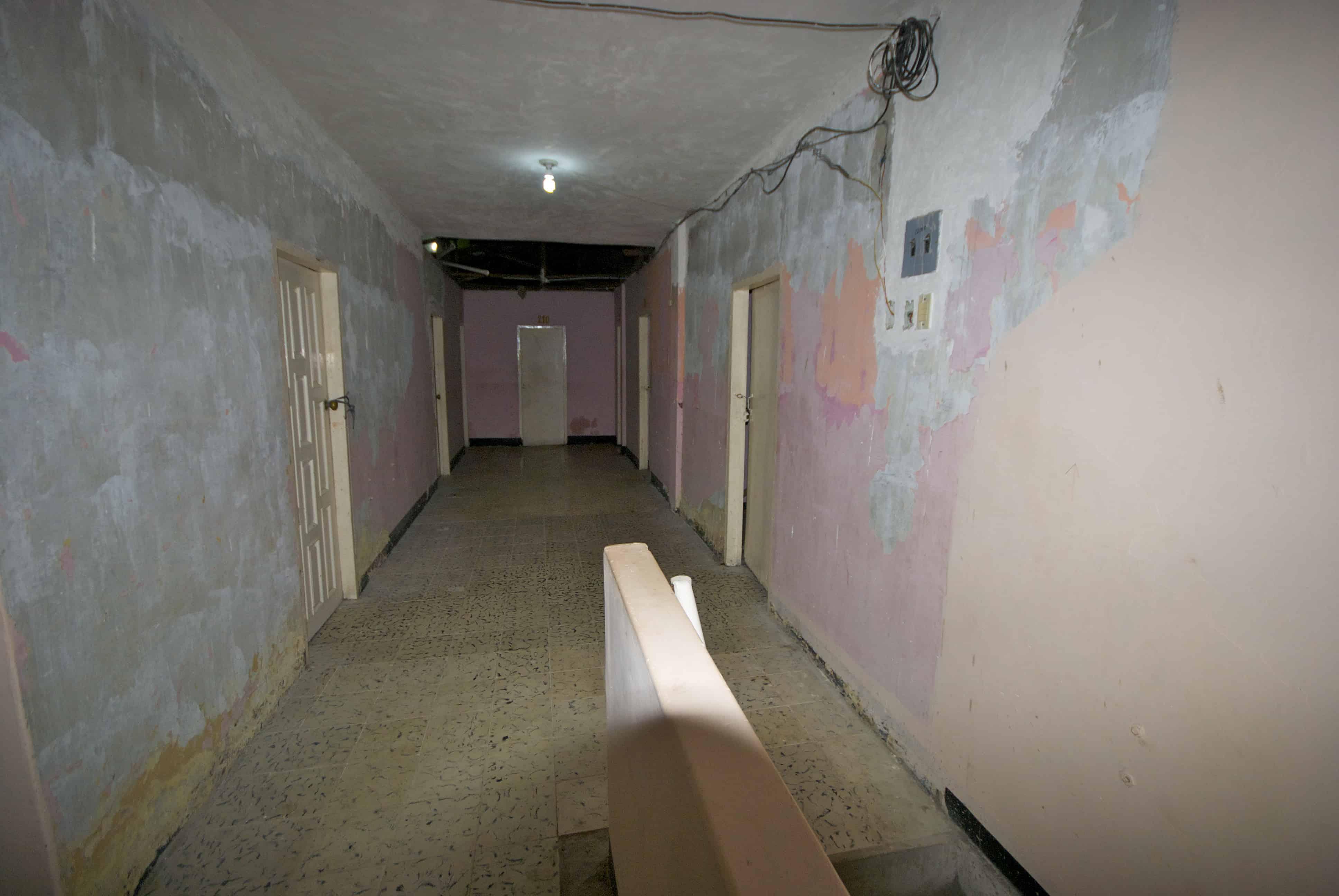 Bad hotel hallway Colombia