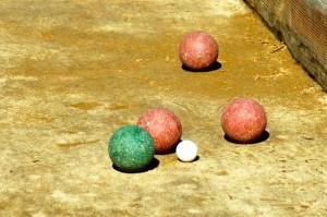 bocce ball close-up