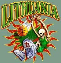 lithuanian skeleton playing basketball