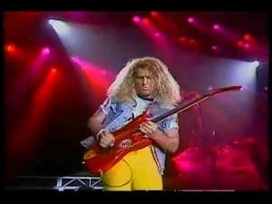 sammy hagar 5150 tour guitar playing
