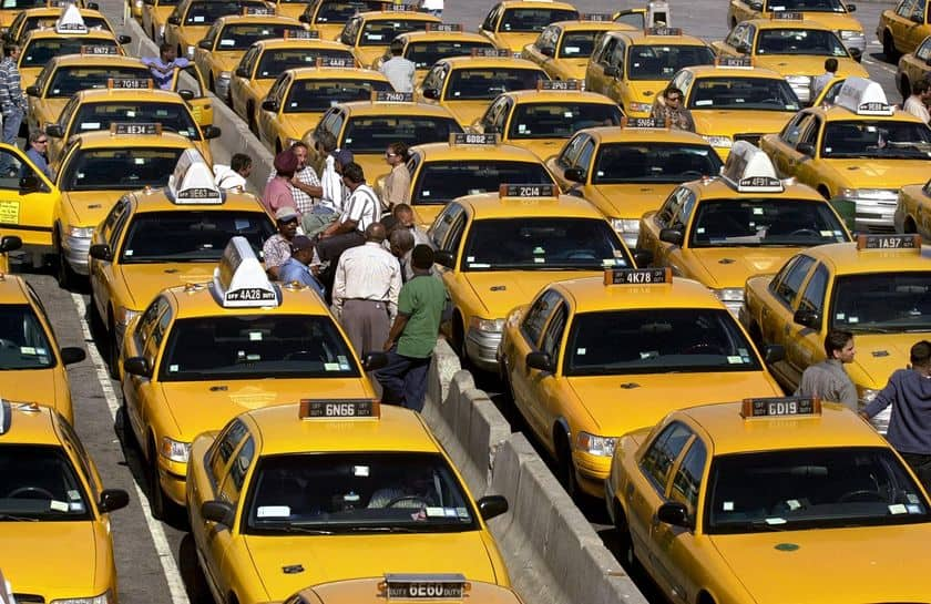 ny city yellow taxi cabs