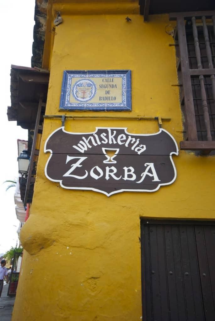 whiskeria zorba cartagena colombia