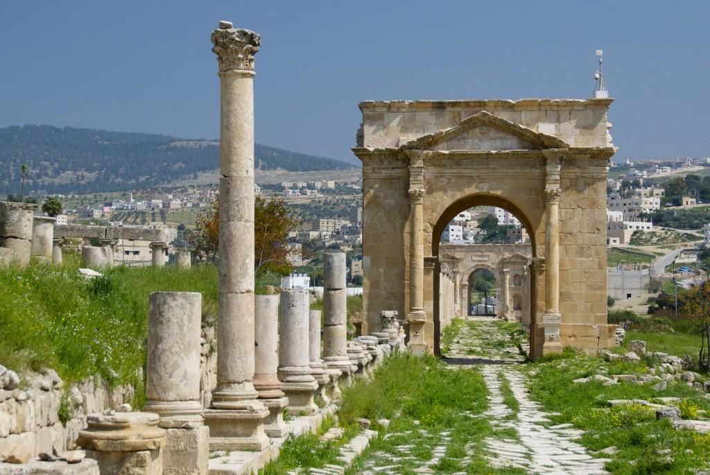 Northern Tetrapylon jerash jordan roman ruins