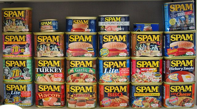 different cans of spam varieties