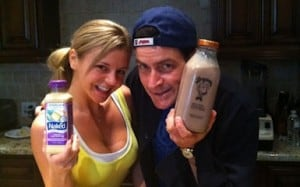 charlie sheen with bree olsen and tiger DNA