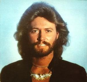 barry gibb 70s beard and hair