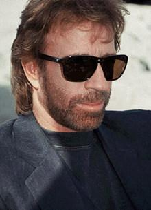 chuck norris sunglasses beard