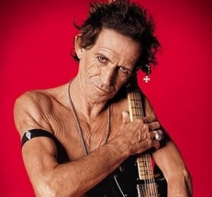 keith richards topless old nasty guitar