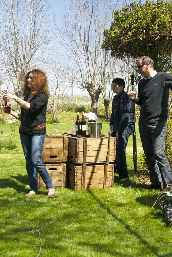christiane wine hostess domaine des tourelles lebanon