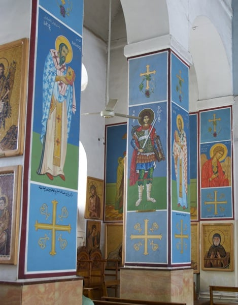 church of the map madaba jordan paintings