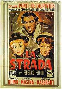 La Strada movie poster by Fellini