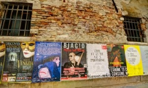 Venice Posters on a Brick Wall, lucky overland traveler