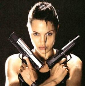 angelina jolie with guns