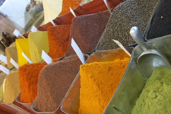 spices from damascus souk market