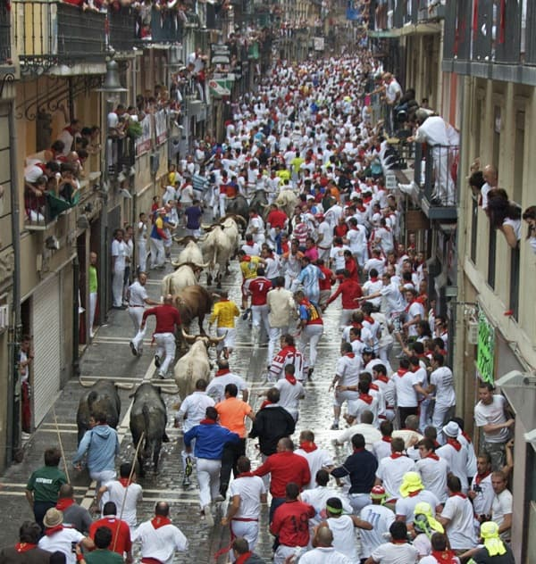 running of the bulls pamplona san fermin