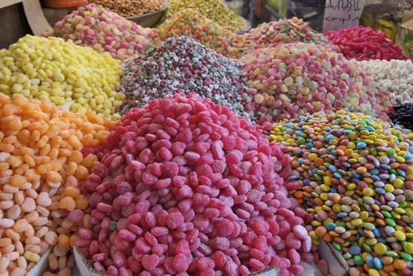 candies for sale, damascus souk market
