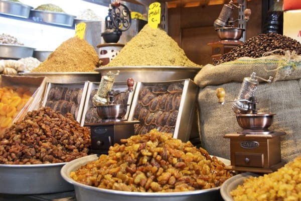 nuts at the damascus souk market
