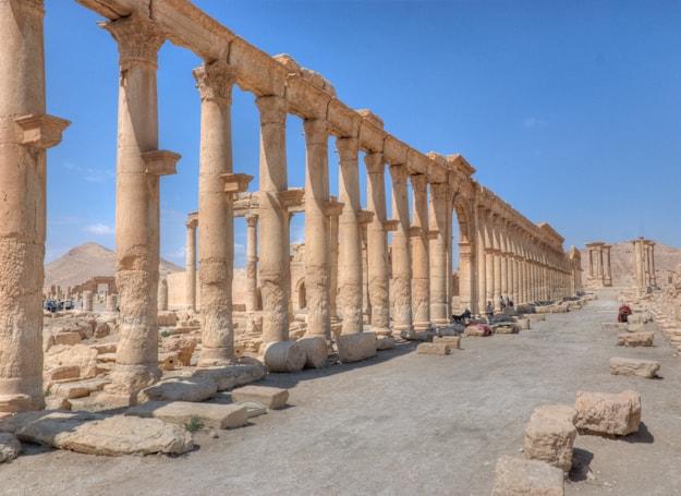 Palmyra main street Syria Roman ruins
