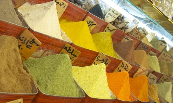 spices in damascus souk in syria