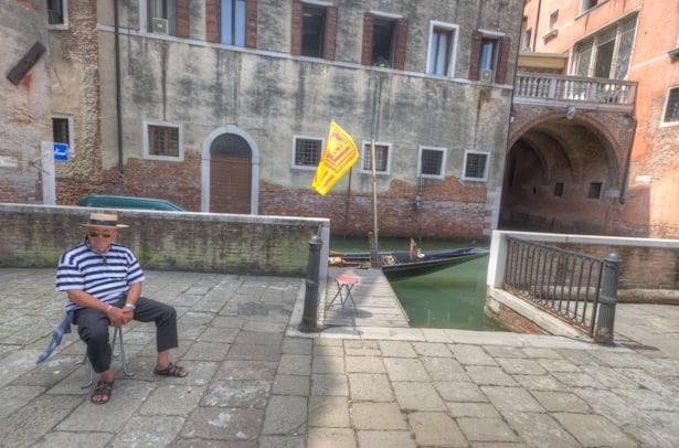 Venice Gondolier portrait on chair