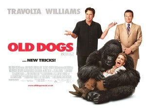 Old Dogs movie poster with John Travolta Robin Williams