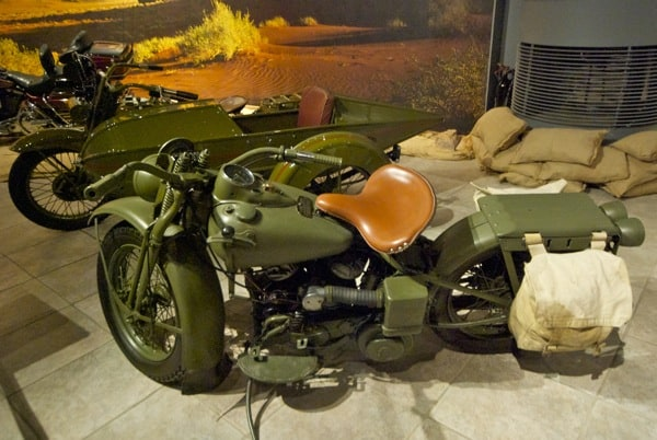 WWII motorcycle at Royal Automotive Museum in Amman Jordan