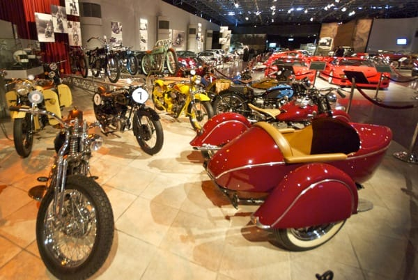 motorcycles at Royal Automobile Museum in Amman Jordan
