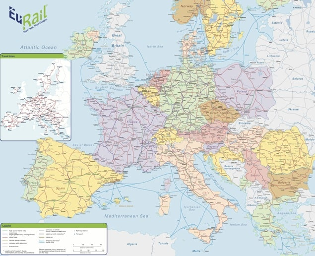 europe railways map, railroads of europe