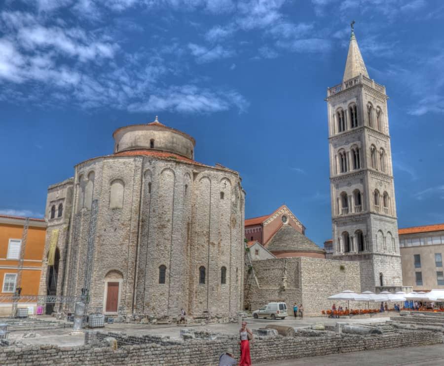 zadar croatia roman church and tower