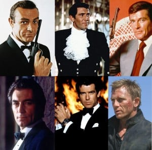 all 6 james bonds in one picture