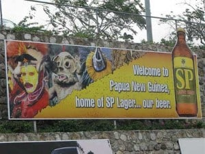 SP Lager billboard from Papua New Guinea