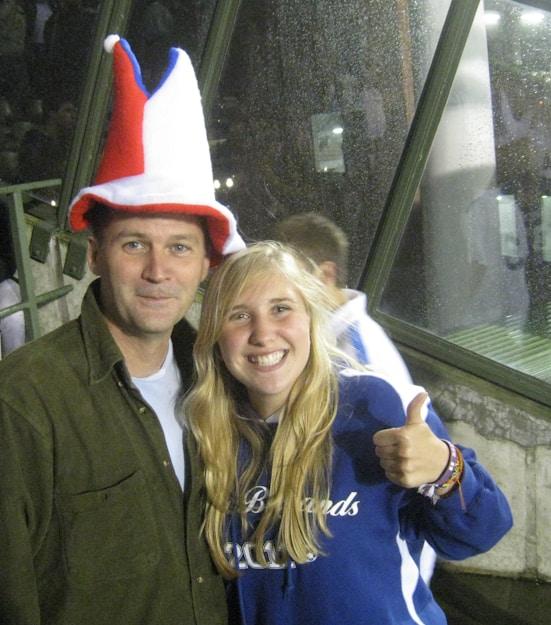 soccer fans in funny hats
